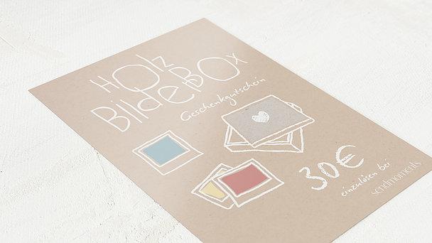 Geschenkgutscheine - Bunte Holz-Bilderbox