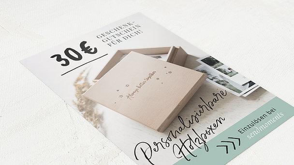 Geschenkgutscheine - Hölzerne Bilderbox