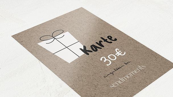 Geschenkgutscheine - Geschenkkarte