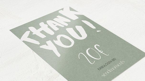 Geschenkgutscheine - Thank you