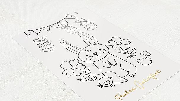 Osterkarten - Frühlingsgirlande