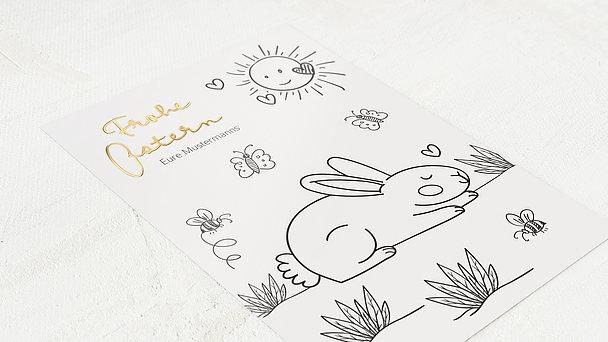 Osterkarten - Schlafender Hase