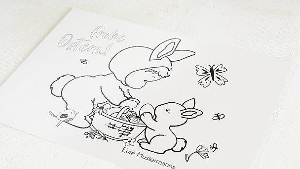 Osterkarten - Häschenkostüm