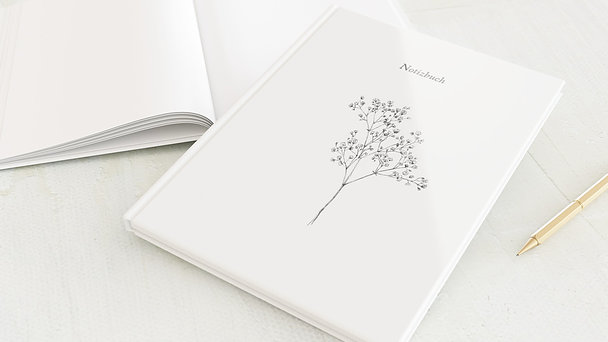 Notizbuch allgemein - Bleistiftzeichnung