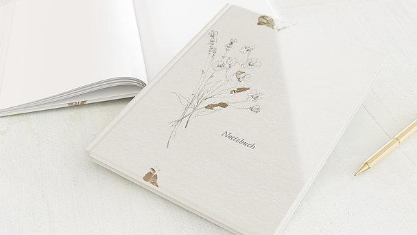 Notizbuch allgemein - Blüten & Büttenpapier