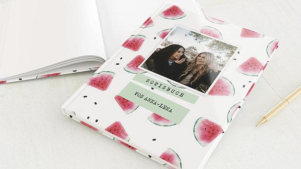 Notizbuch allgemein - Wassermelone