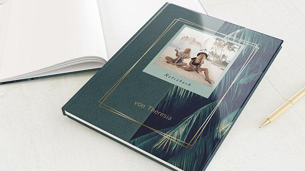 Notizbuch allgemein - Gold & Palmen