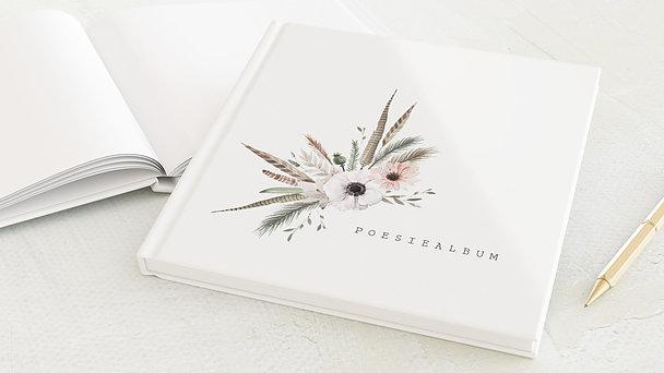 Poesiealbum - Federn & Blumen