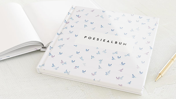 Poesiealbum - Täubchen Violett