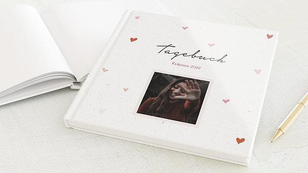 Tagebuch - Pinke Herzchen