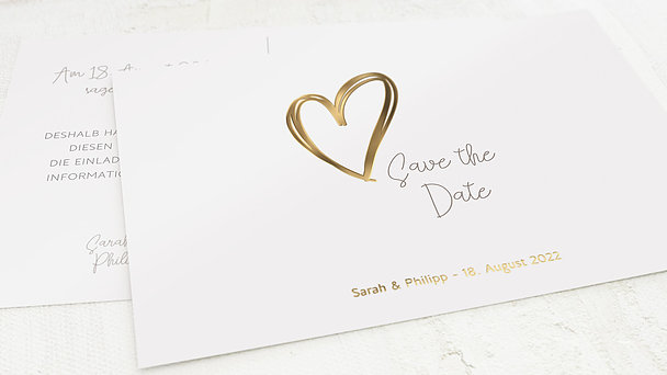 Save the Date - Herz über Kopf