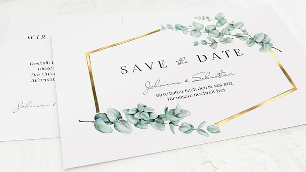 Save the Date - Eucaliptus love