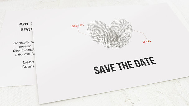 Save the Date - Fingerprint