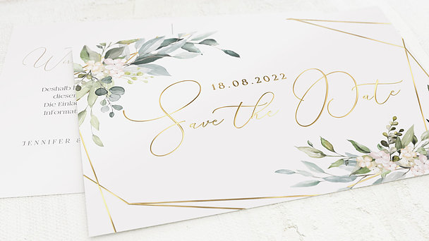 Save the Date - Tender Florals