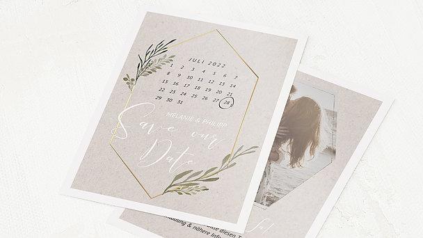 Save the Date - Elegant gerankt