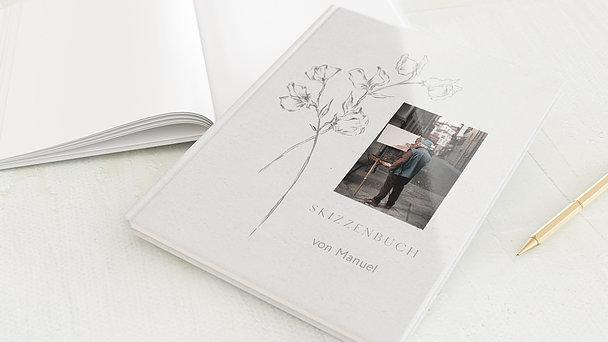 Skizzenbuch - Graphitstift Rosen
