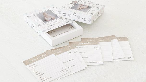 Tagebuchkartenbox Baby - Häschen