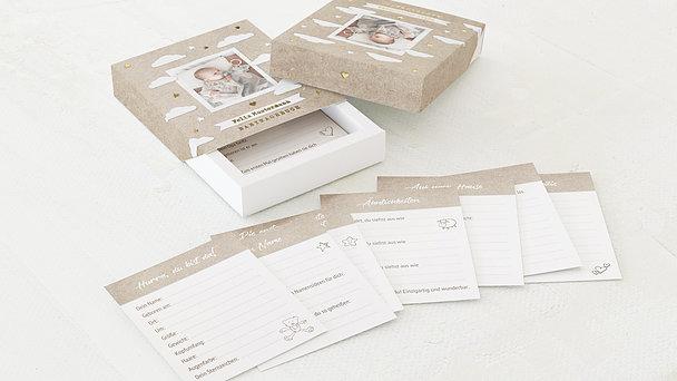 Tagebuchkartenbox Baby - Wolkig