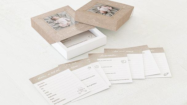 Tagebuchkartenbox Baby - Schiffchen