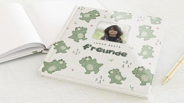 Freundebuch - Fröhlicher Dino