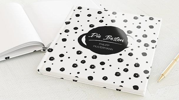 Freundebuch - Schwarz auf weiß