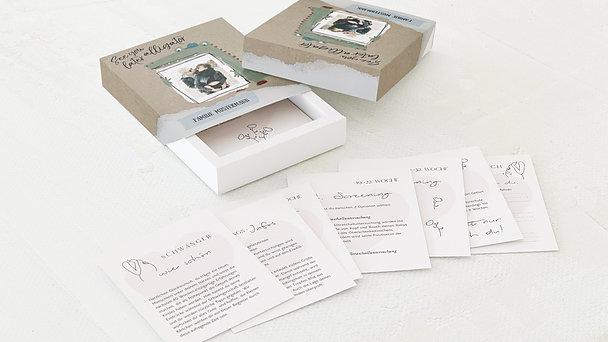 Tagebuchkartenbox Schwangerschaft - See you later