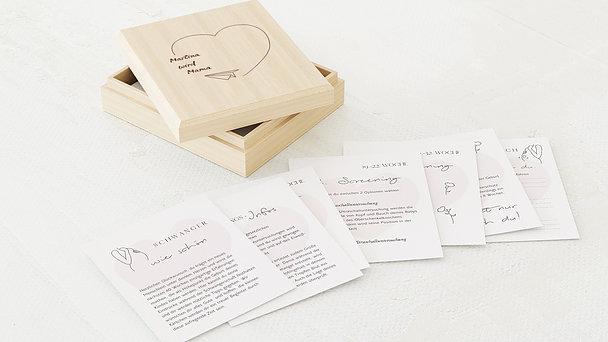 Tagebuchkartenbox Schwangerschaft - Baby im Anflug