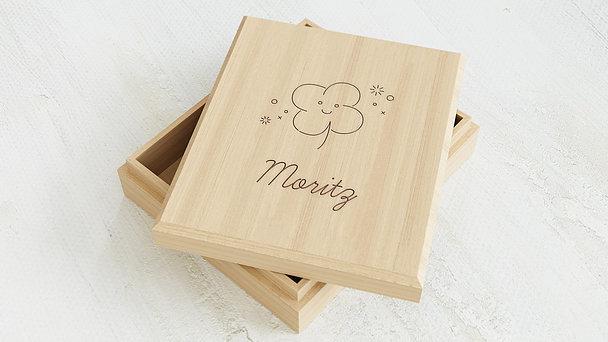 Erinnerungsbox Baby - Glücksklee