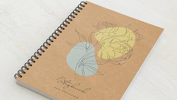 Notizbücher mit Spiralbindung - Florale Träumerei