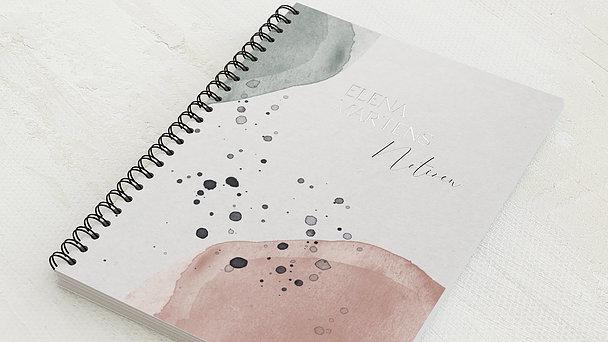 Notizbücher mit Spiralbindung - Sprenkel Aquarell