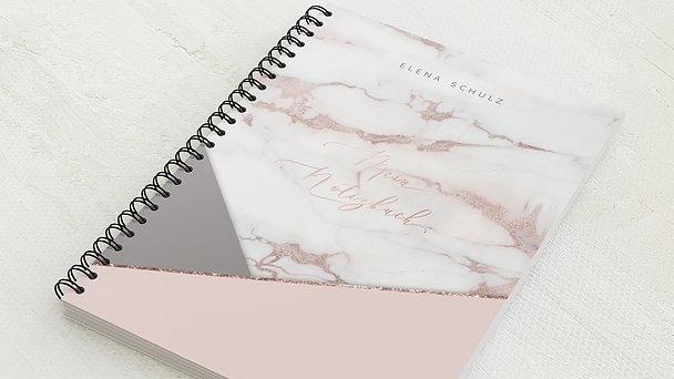 Notizbücher mit Spiralbindung - Marmor Look