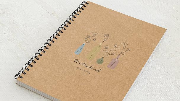 Notizbücher mit Spiralbindung - Blumenvasen