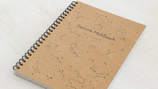 Notizbücher mit Spiralbindung - Himmelskarte