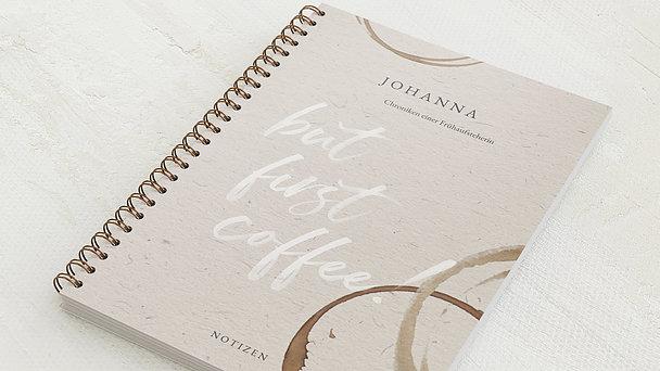 Notizbücher mit Spiralbindung - But First Coffee