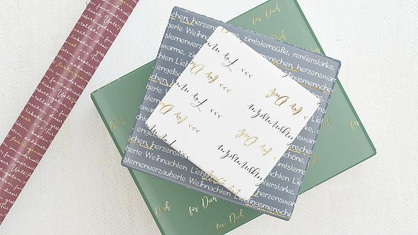Geschenkpapier - Liebe Worte