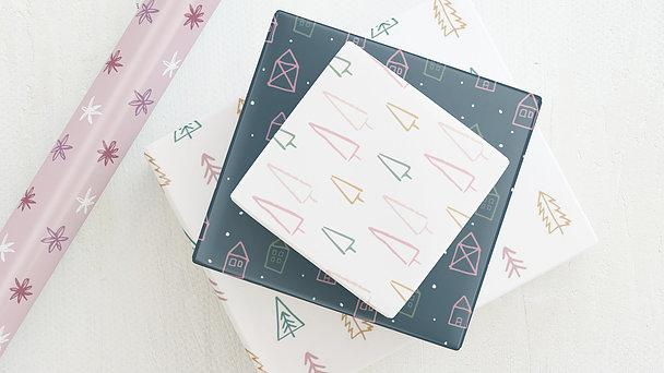 Geschenkpapier - Christmas icons