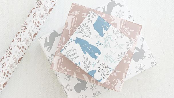 Geschenkpapier - Welt der Wildtiere