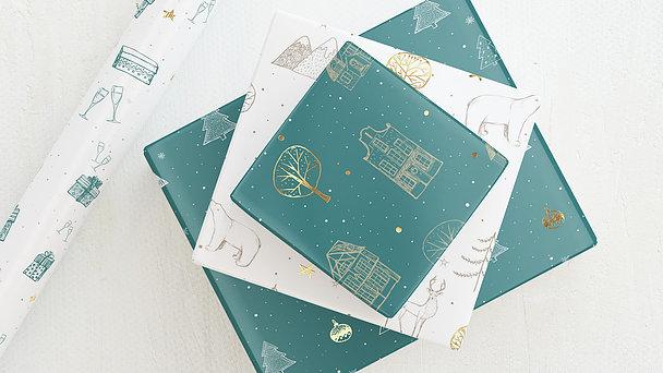 Geschenkpapier - Merry & bright