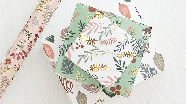 Geschenkpapier - Bunte Blätter