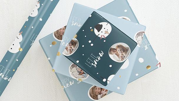 Geschenkpapier - Happy snowflakes