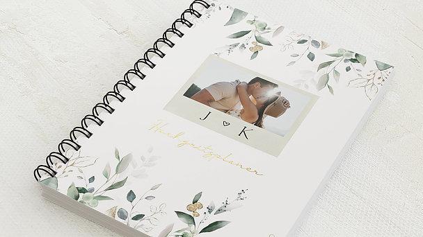 Hochzeitsplaner Spiralbindung - Hochzeitsplaner Grüner Traum