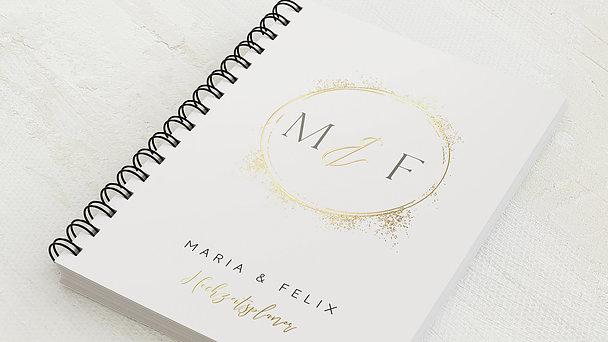 Hochzeitsplaner Spiralbindung - Hochzeitsplaner Golden Circle