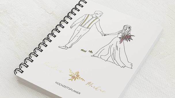 Hochzeitsplaner Spiralbindung - Hochzeitsplaner Paar