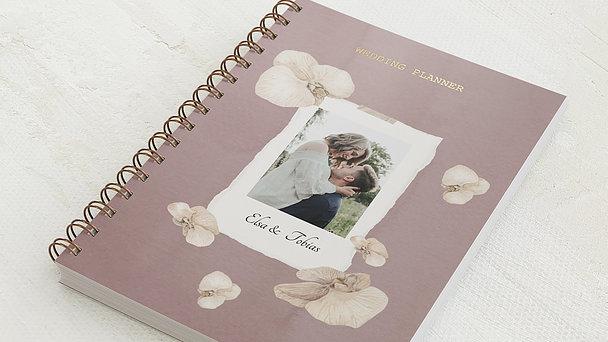 Hochzeitsplaner Spiralbindung - Hochzeitsplaner Blütenpracht