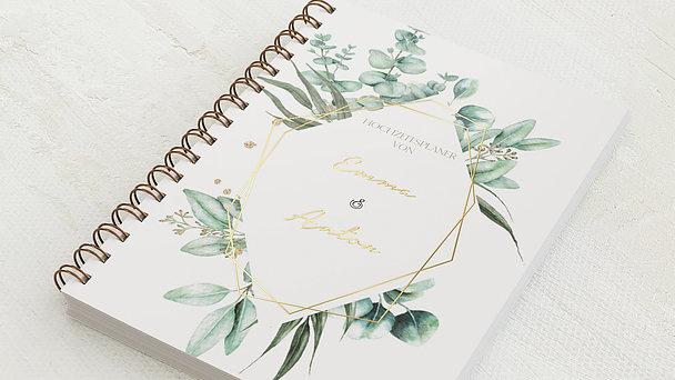 Hochzeitsplaner Spiralbindung - Hochzeitsplaner Green