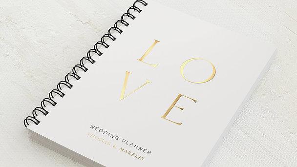 Hochzeitsplaner Spiralbindung - Hochzeitsplaner Love