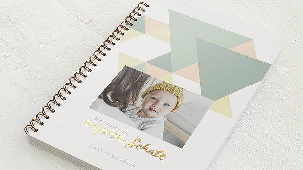 Baby-Tagebuch Spiralbindung - Babytagebuch Logik