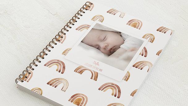 Baby-Tagebuch Spiralbindung - Babytagebuch Regenbogen