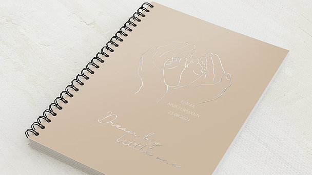 Baby-Tagebuch Spiralbindung - Babytagebuch Linie