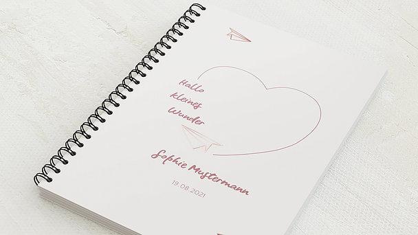 Baby-Tagebuch Spiralbindung - Babytagebuch Fly